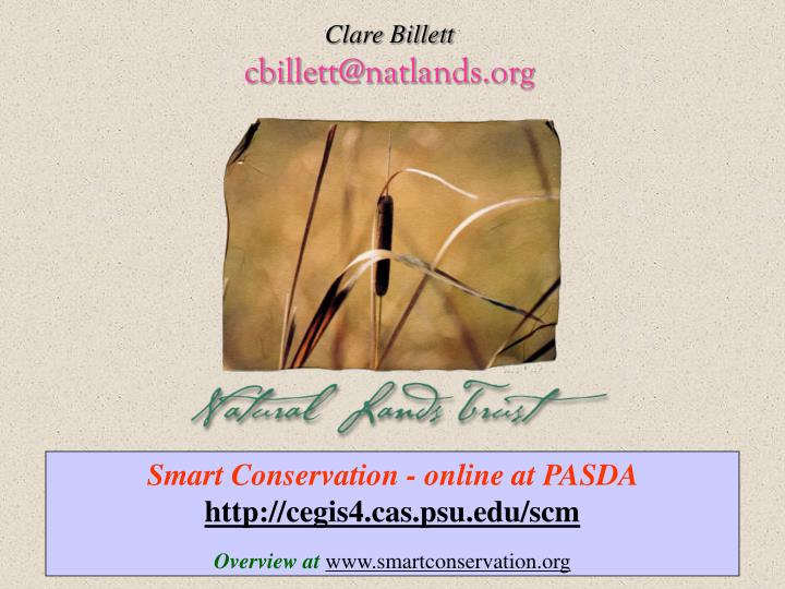 Smart Conservation - online at