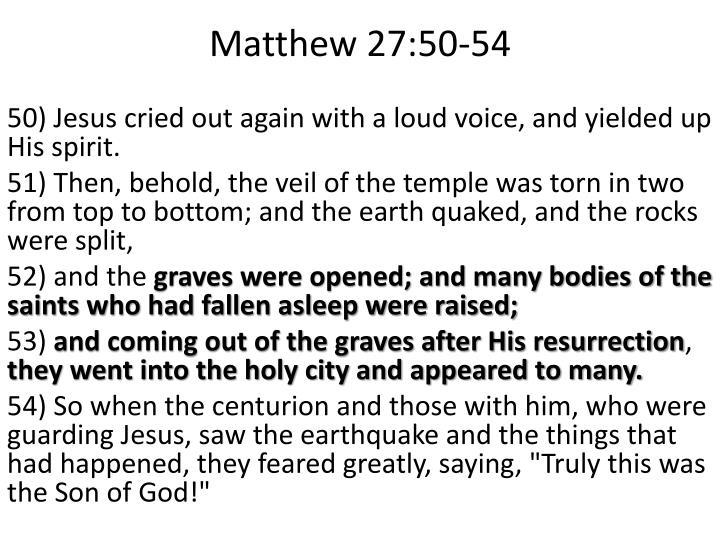 Matthew 27:50-54