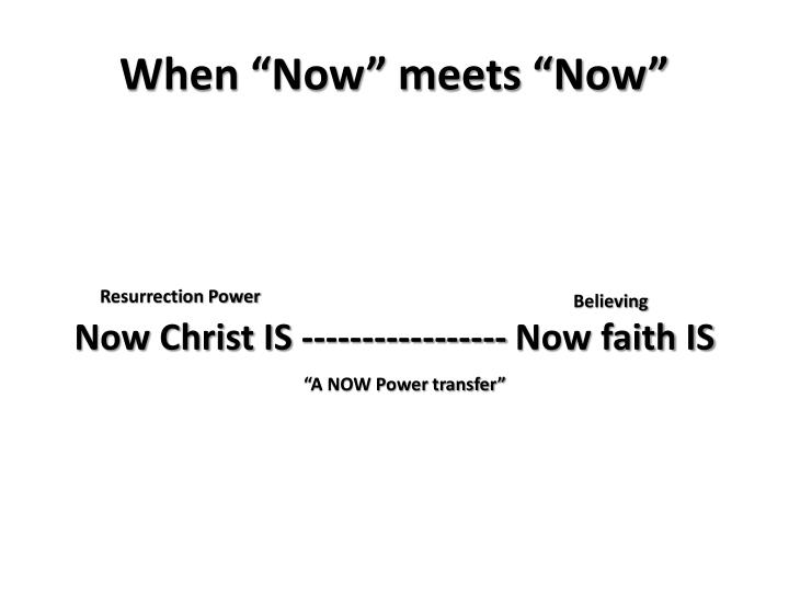 """When """"Now"""" meets """"Now"""""""