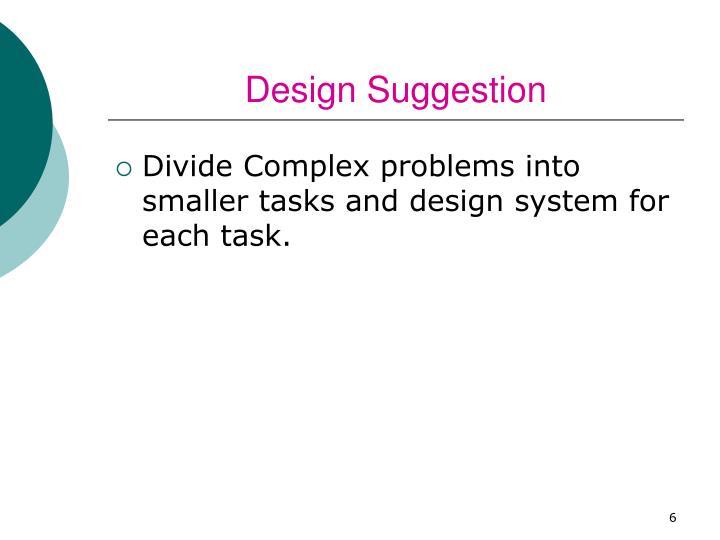 Design Suggestion
