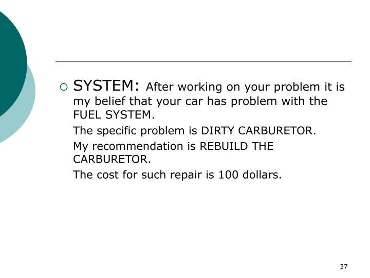 SYSTEM: