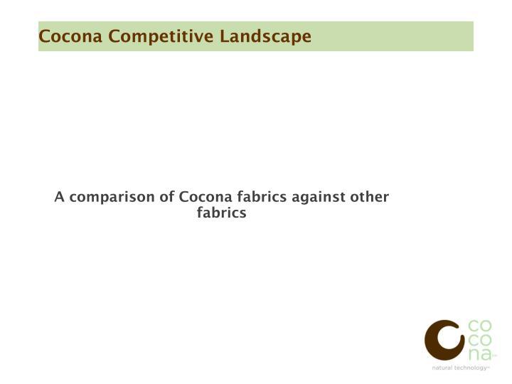 A comparison of Cocona fabrics against other fabrics