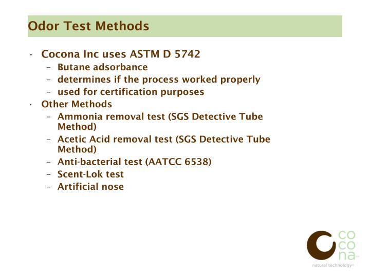 Odor Test Methods