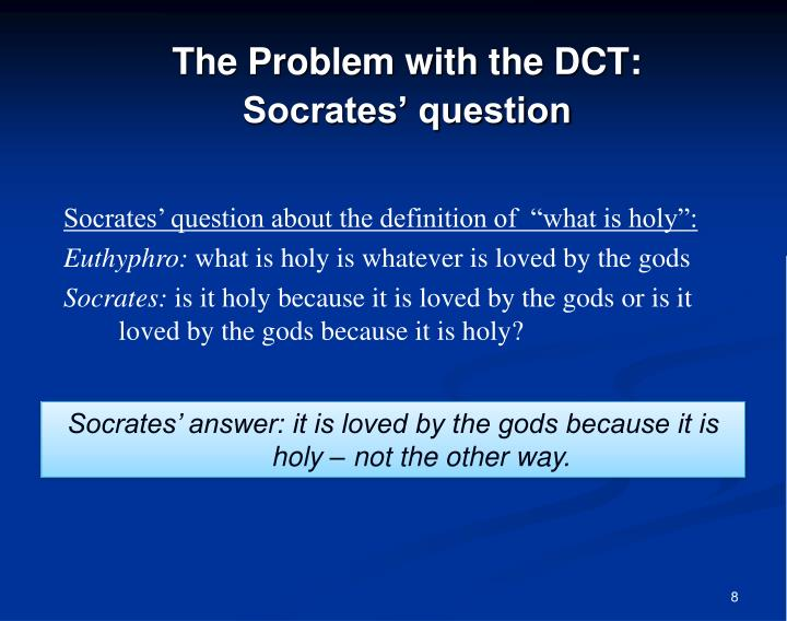 The Problem with the DCT: