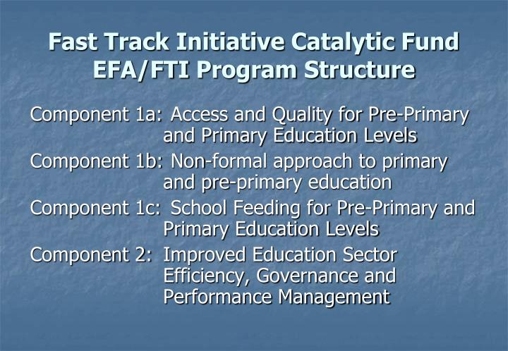 Fast Track Initiative Catalytic Fund