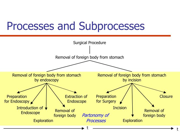 Processes and Subprocesses