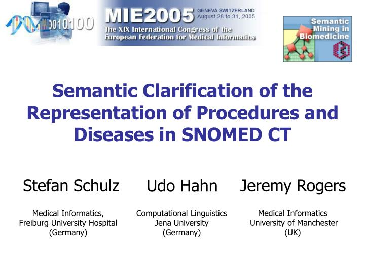 Semantic clarification of the representation of procedures and diseases in snomed ct
