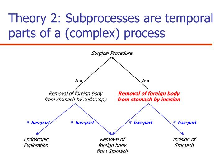Theory 2: Subprocesses are temporal parts of a (complex) process