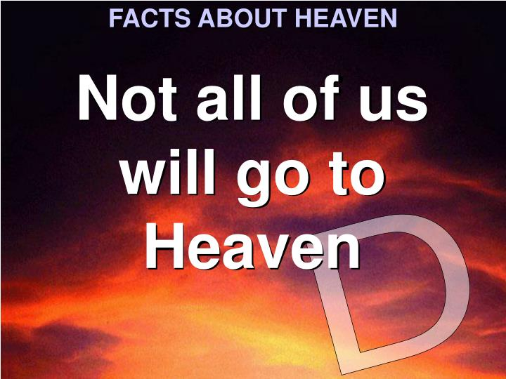 FACTS ABOUT HEAVEN