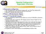 baseline configuration experiment overview