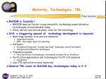 maturity technologies trl