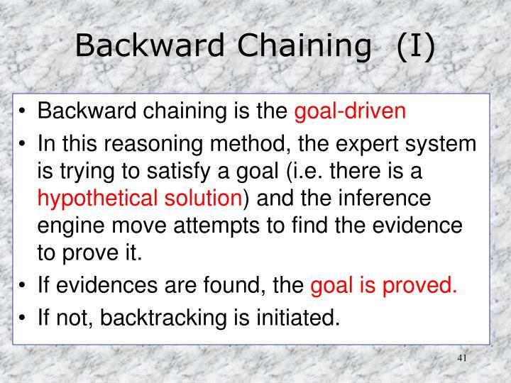 Backward Chaining  (I)