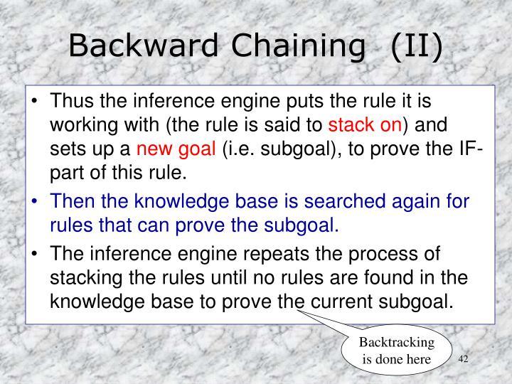 Backward Chaining  (II)