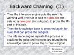 backward chaining ii