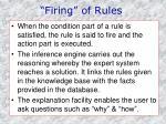 firing of rules