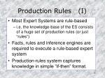 production rules i