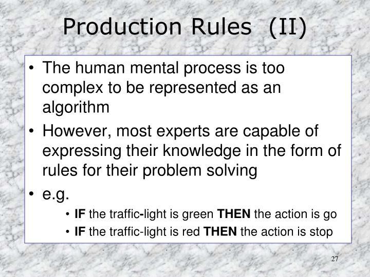 Production Rules  (II)