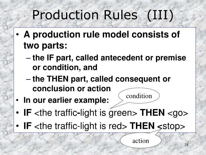 Production Rules  (III)