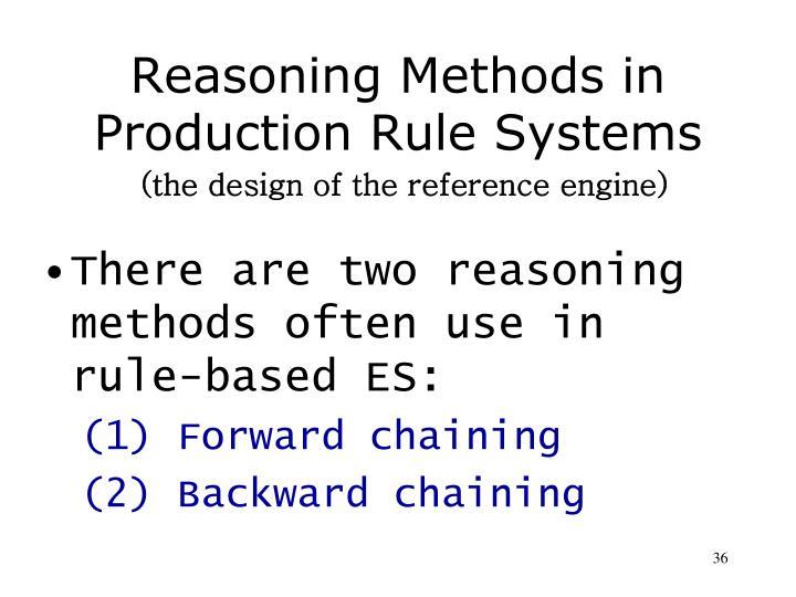 Reasoning Methods in
