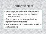 semantic nets
