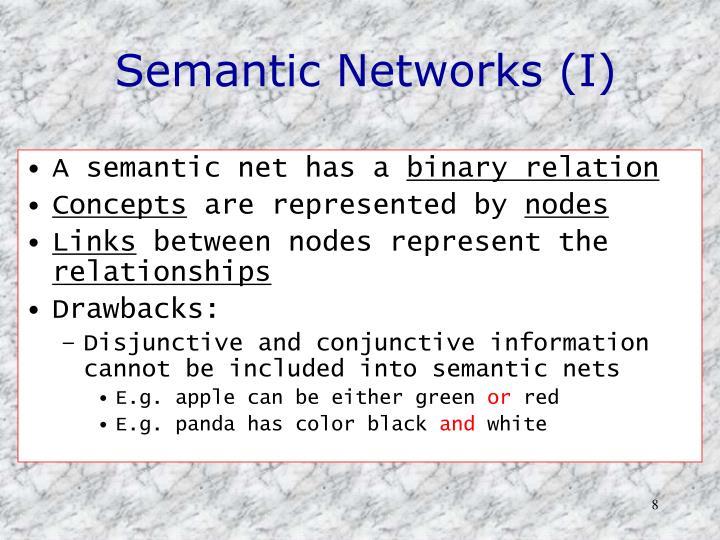 Semantic Networks (I)