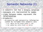 semantic networks i