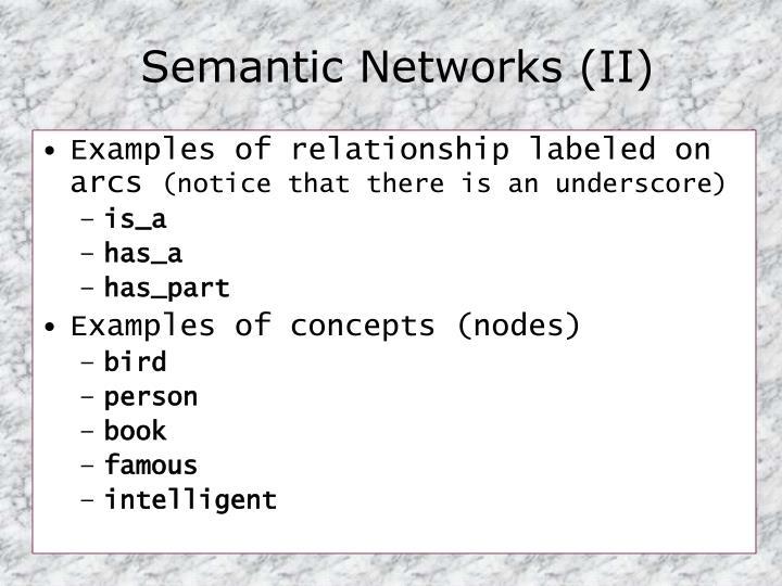 Semantic Networks (II)