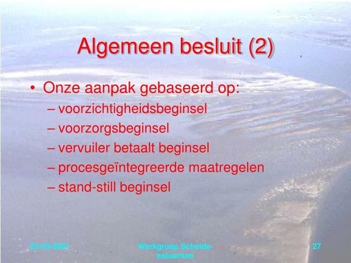 Algemeen besluit (2)