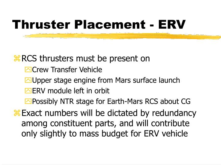 Thruster Placement - ERV
