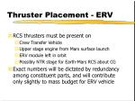 thruster placement erv