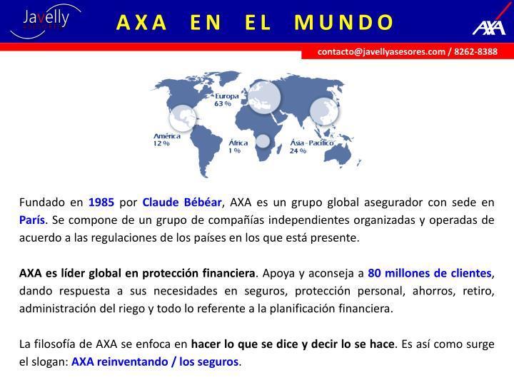 AXA  EN  EL  MUNDO