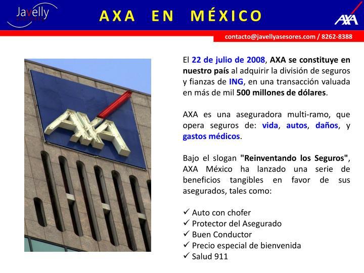 AXA  EN  MÉXICO