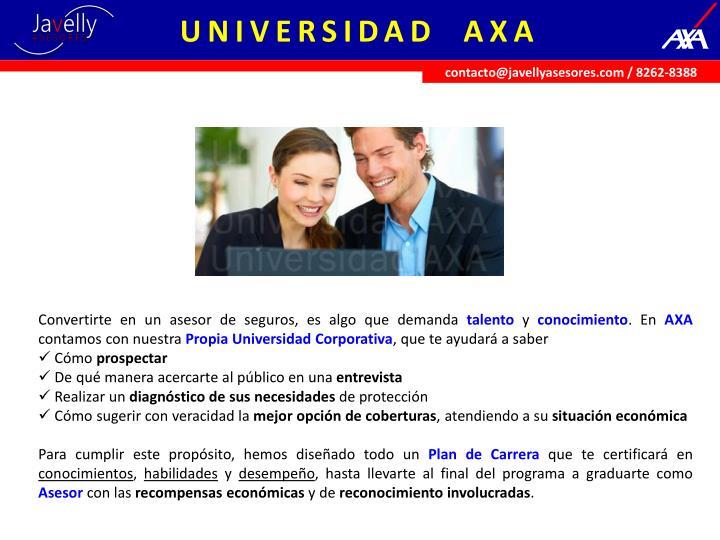 UNIVERSIDAD  AXA