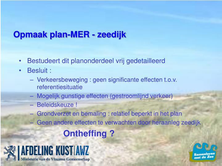 Opmaak plan-MER - zeedijk