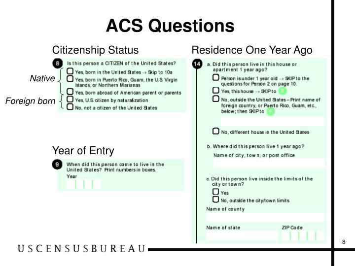 ACS Questions
