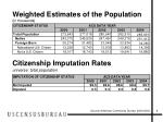 weighted estimates of the population