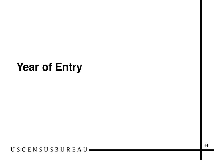 Year of Entry
