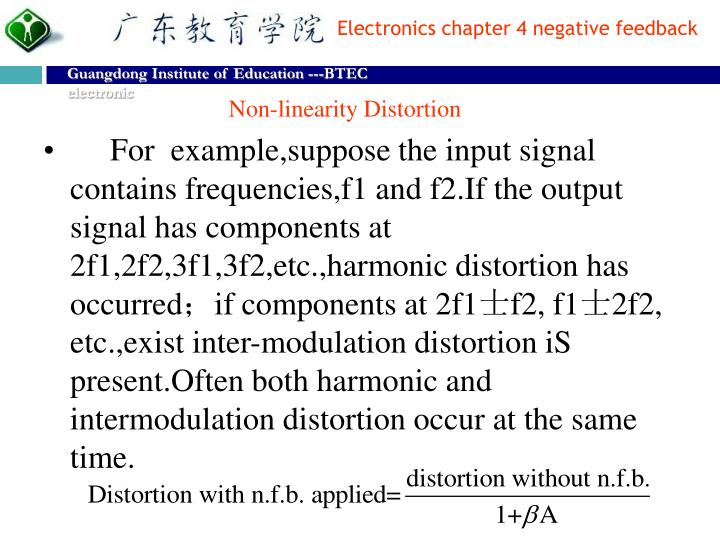Non-linearity Distortion