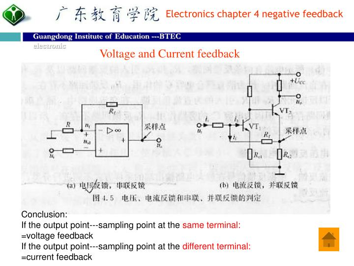 Voltage and Current feedback