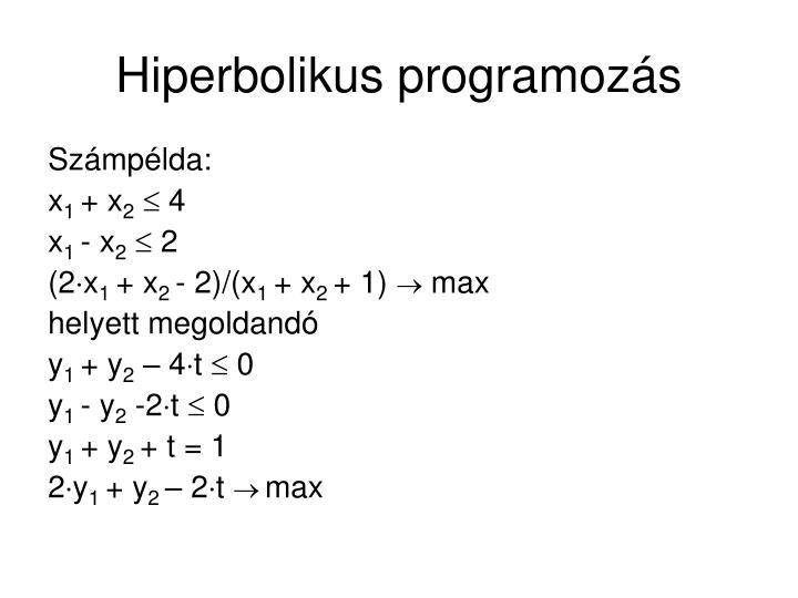 Hiperbolikus programozás