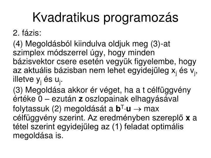 Kvadratikus programozás