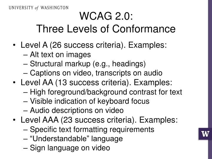 WCAG 2.0: