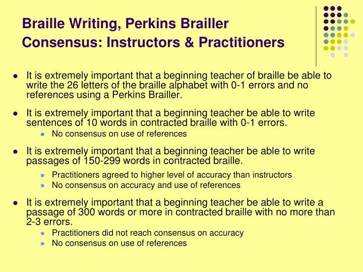Braille Writing, Perkins Brailler