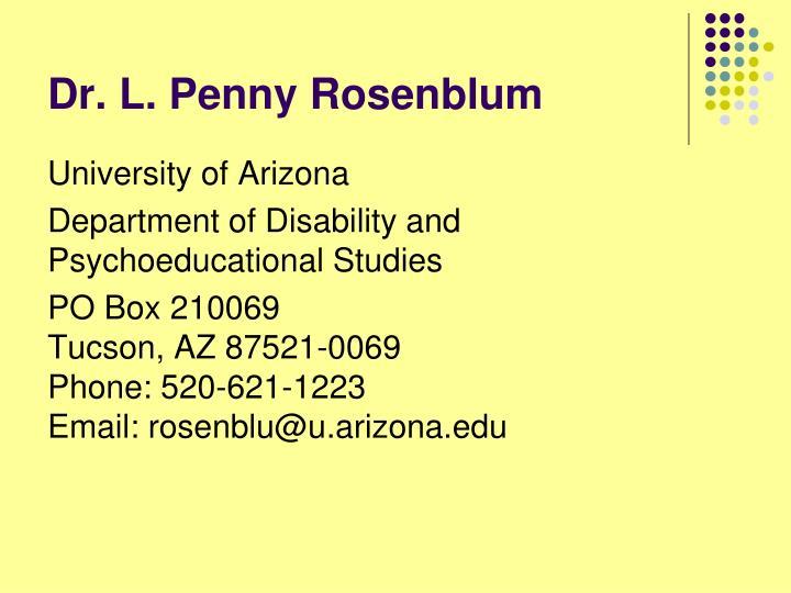 Dr. L. Penny Rosenblum