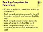 reading competencies references