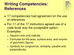 writing competencies references