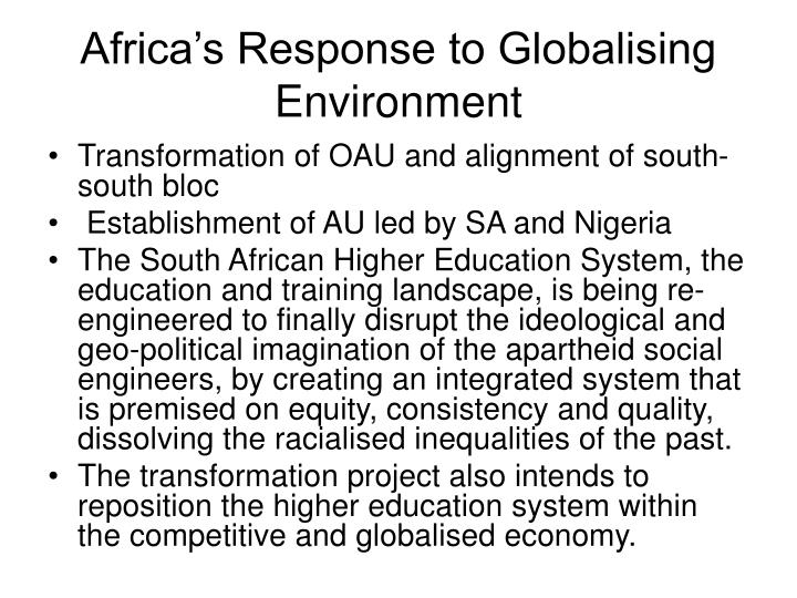 Africa's Response to Globalising Environment