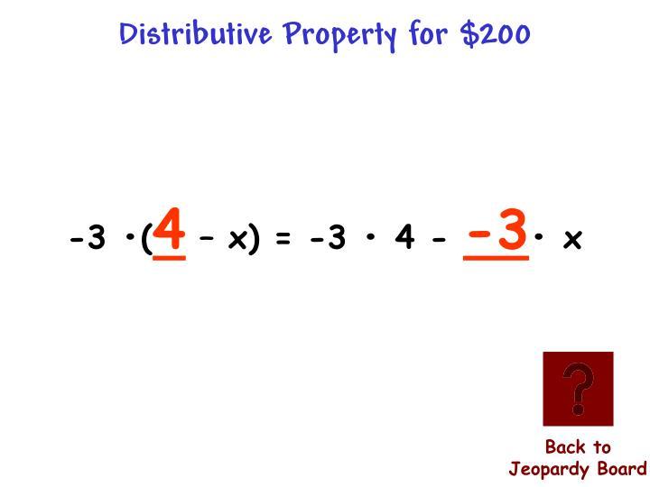 Distributive Property for $200