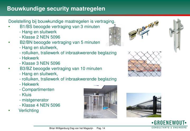 Bouwkundige security maatregelen