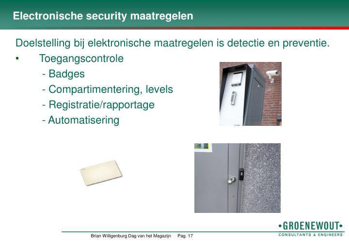Electronische security maatregelen
